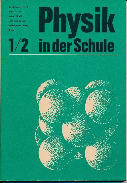 Physik in der Schule  Heft 1-12/1976