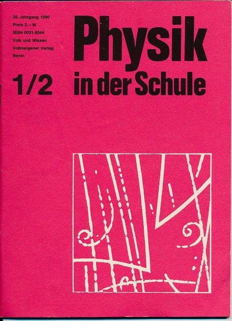 Physik in der Schule  Heft 1-12/1990