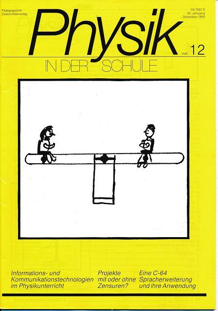 Physik in der Schule  Heft 1-12/1992