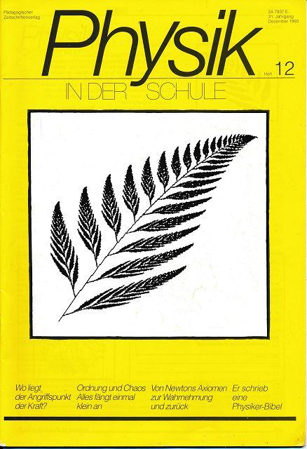 Physik in der Schule  Heft 1-12/1993