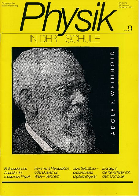 Physik in der Schule  Heft 1-12/1995