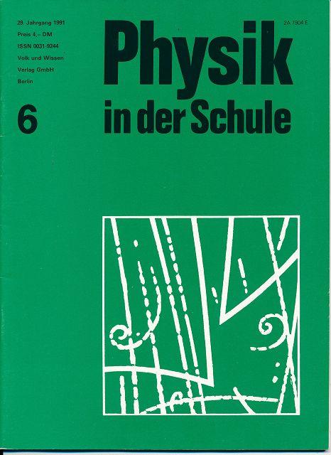 Physik in der Schule  Heft 1-8/1991