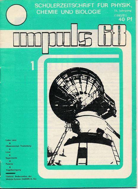 Impuls 68  Heft 1-1980/81  DDR-Schülerzeitschrift