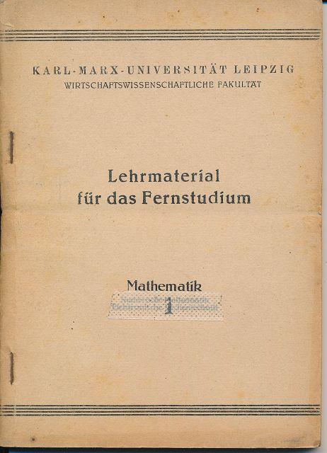 Lehrmaterial für das Fernstudium – Mathematik