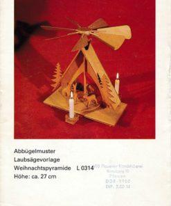 Abbügelmuster Laubsägevorlage Weihnachtspyramide L 0314