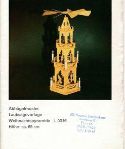 Abbügelmuster Laubsägevorlage Weihnachtspyramide L 0316
