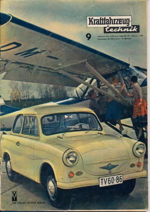 Kraftfahrzeugtechnik 9/1958