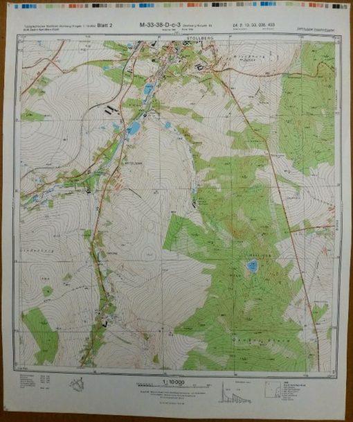 Lengenfeld Wolfspfütz Eich Treuener Wald – Original-Messtischblatt der NVA / M-33-49-B-c-2