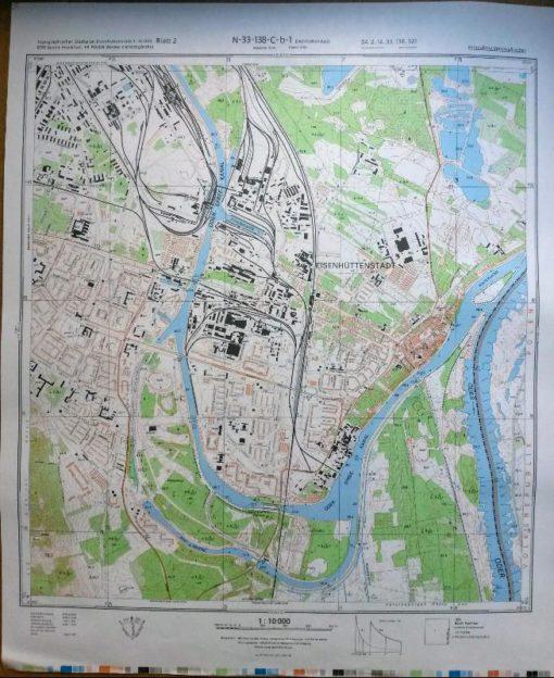 Wilkau-Haßlau Wilhelmshöhe Reinsdorf Oberhohndorf Vielau und Umgeb. – Original-Messtischblatt der NVA / M-33-38-C-c-3