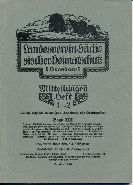 Heft 1-2/1930 Mitteilungen des Landesvereins Sächsischer Heimatschutz