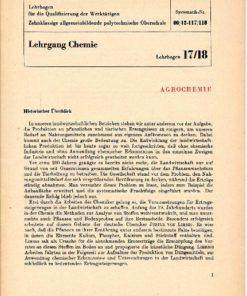 Agrochemie / Lehrgang Chemie / Lehrbogen 17/18
