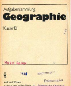Aufgabensammlung Geographie Klasse 10