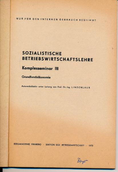 Sozialistische Betriebswirtschaftslehre