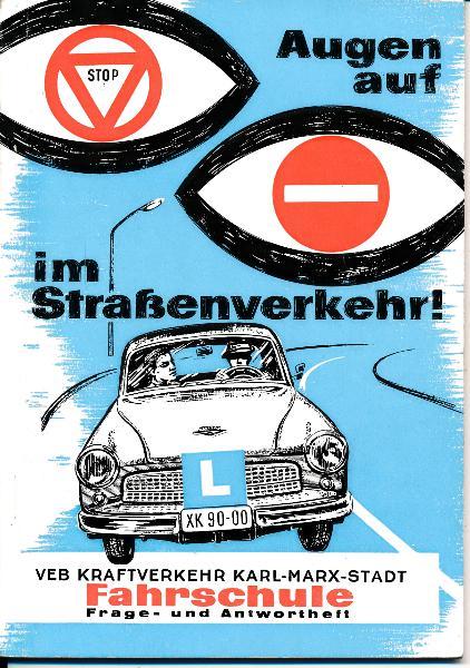 Augen auf im Straßenverkehr! - Fahrschule Frage- und Antwortheft