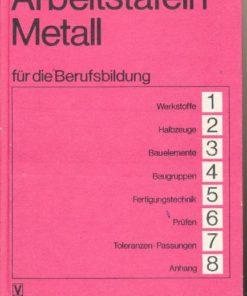 Arbeitstafeln Metall für die Berufsbildung