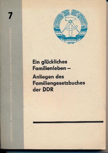 shop.ddrbuch.de Heft 7 – Aus der Arbeit der Volkskammer und ihrer Ausschüsse