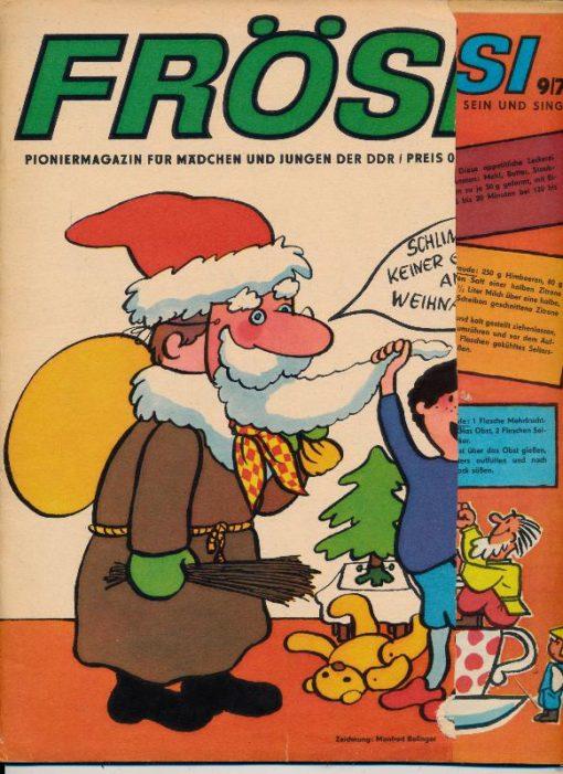 shop.ddrbuch.de Kinderzeitschrift aus der DDR, Inklusive äußere Umschlagseite – diese ist vorn in einem Streifen von etwa 8cm beschnitten