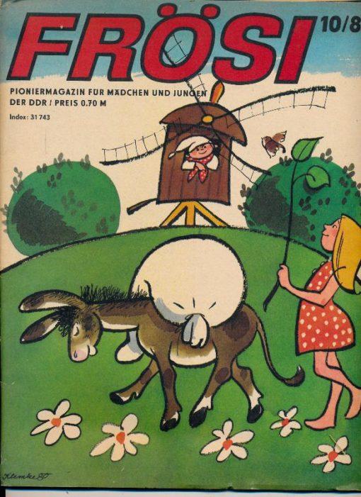 shop.ddrbuch.de Kinderzeitschrift aus der DDR, ohne Extra Umschlagseite – Innere Umschlagseite an der Heftung etwas beschädigt