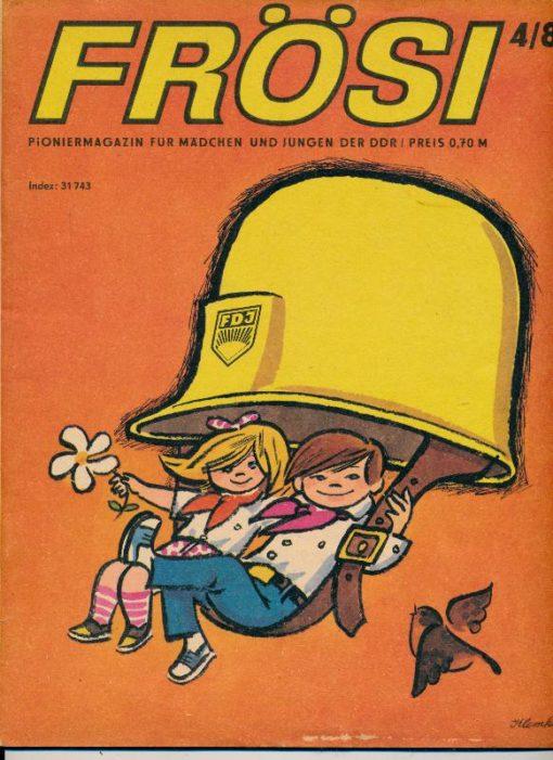 shop.ddrbuch.de Kinderzeitschrift aus der DDR, Inklusive äußere Umschlagseite – diese ist flächig etwas berieben – kleine Fehlstelle von 1cm