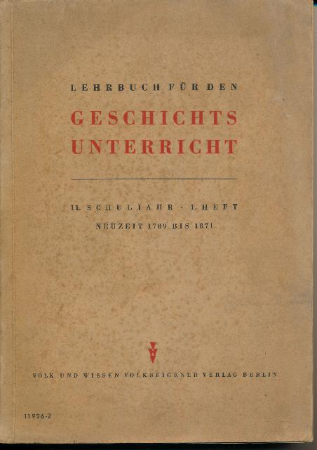 shop.ddrbuch.de Neuzeit 1789 bis 1871, Alterungsflecken – deutlich gebräunt