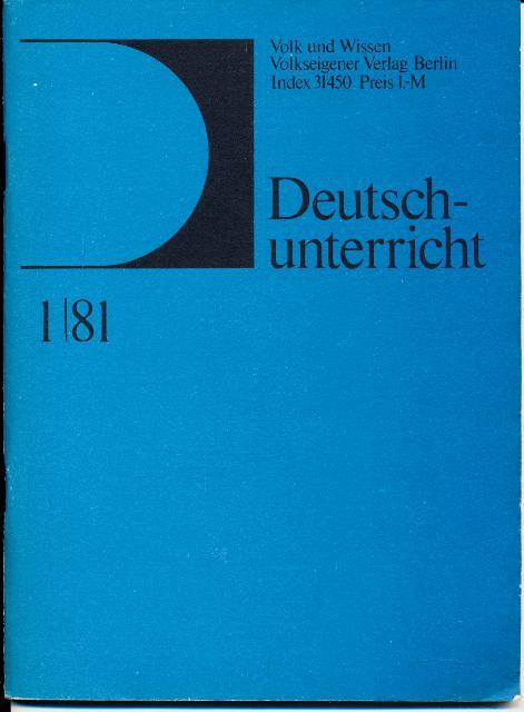 shop.ddrbuch.de Fachzeitschrift für Deutschlehrer in der DDR, Ecken und Kanten leicht berieben