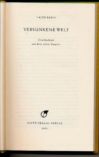 shop.ddrbuch.de DDR-Buch, Geschichten aus dem alten Ungarn, Belletristik, mit Original-Lesezeichen