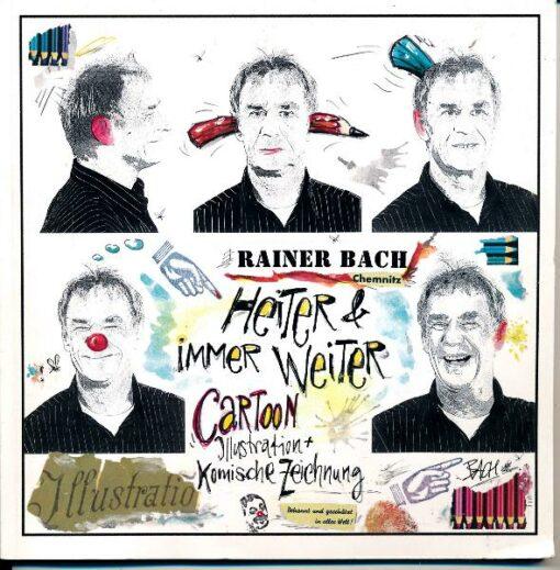 shop.ddrbuch.de Cartoon, Illustrationen, komische Zeichnung, sowie Informationen über Rainer Bach aus Chemnitz, Seiten durchgehend Kunstdruckpapier
