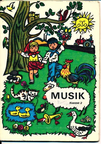 shop.ddrbuch.de DDR-Lehrbuch, mit Musiknoten, farbig gestaltet mit Zeichnungen von Rudolf Grapentin