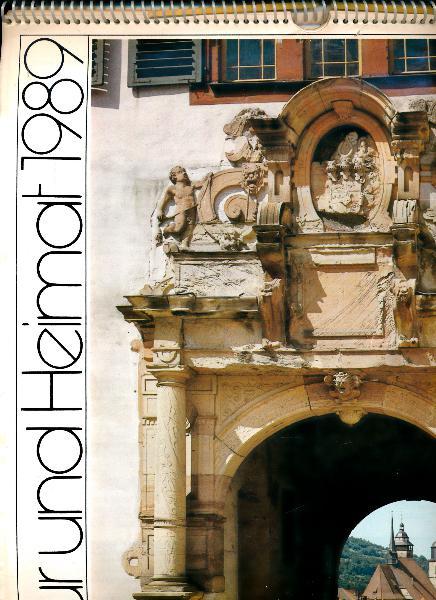 shop.ddrbuch.de DDR-Jahreskalender, durchgehend Kunstdruckpapier mit Papprückwand, Inhalt: vorderseitig Farbfotografien, jeweils auf der Rückseite Text mit Schwarzweißfotografie