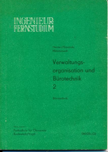 shop.ddrbuch.de DDR-Lehrwerk für das Fachschul-Fernstudium, Bürotechnik, 5 Kapitel