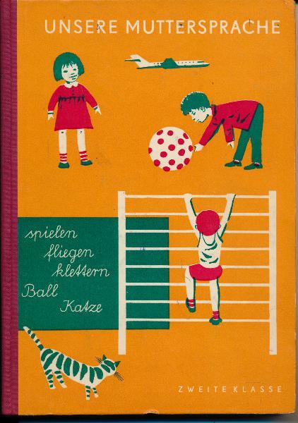 shop.ddrbuch.de DDR-Lehrbuch, Übungsstoffe für den Deutschunterricht, mit blauen schönen Zeichnungen von Heinz Ebel, Inhalt: Grammatik, Rechtschreibung