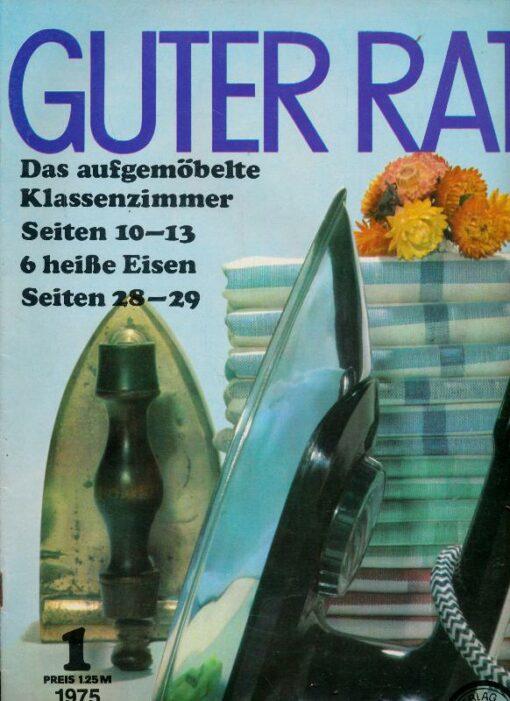 shop.ddrbuch.de Ratgeberzeitschrift aus der DDR – Produktvorstellung Waschautomat electronic 02 - Bügeleisen – Brot und Salz – Kühlschrankreparatur