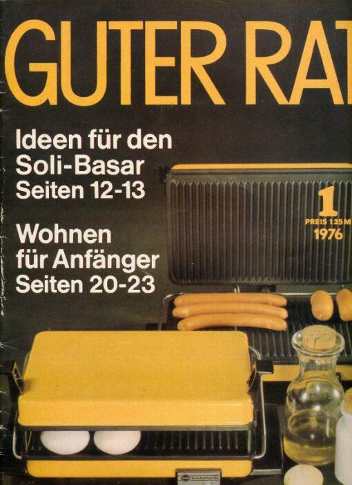 shop.ddrbuch.de Ratgeberzeitschrift aus der DDR – Warenkunde Uhren – Zündgeräte für Gasherde – Kohleraumheizer